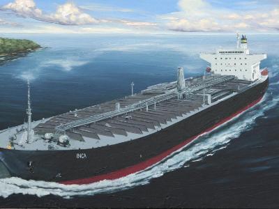 "Ecuadorian oil carrier ""Inca"", 120cm x 60cm, 2013"