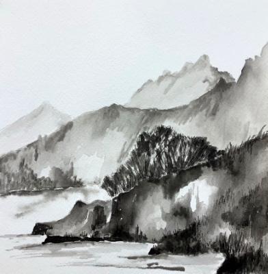 Barney Lake (value study)