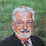 Portrait of the former German ambassador in Ecuador, 80cm x 60cm, 2014