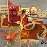 Home Bound - Acrylic -Canvas -8x8