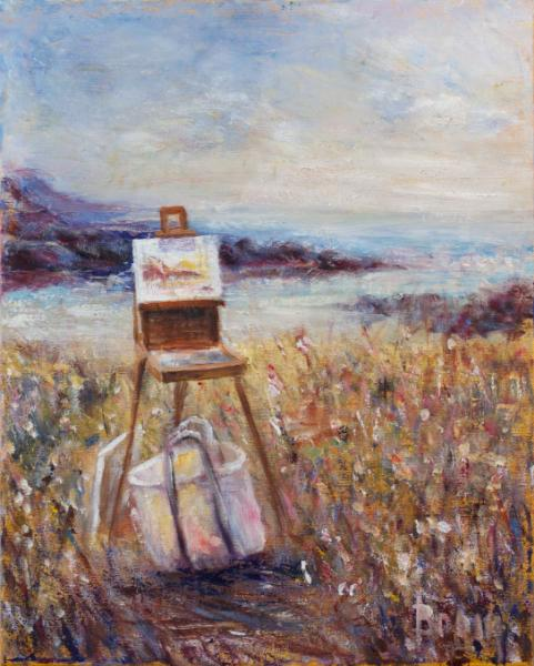 Waiting for the Artist - SOLD