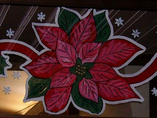 Poinsettia garland 2