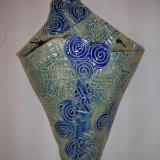 Blue Swirls Pocket SOLD
