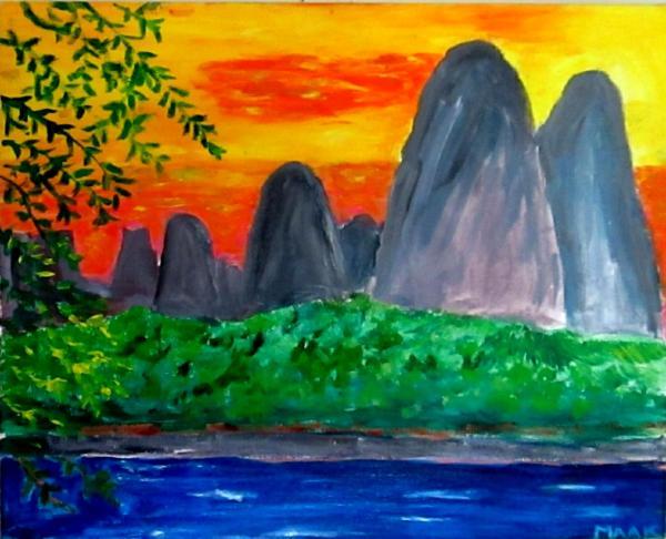 China Mountains at Sunset 1