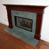 Custom solid alder fireplace mantle