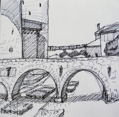 Castle Bridge, Carcasonne