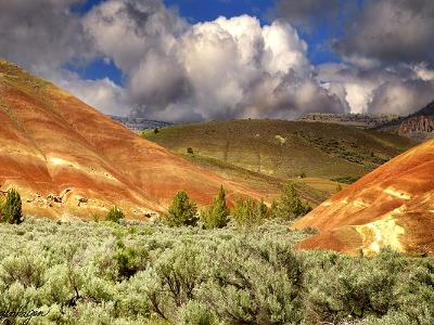 Stormy Painted Hills