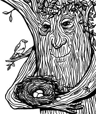 Tree Cradling Nest