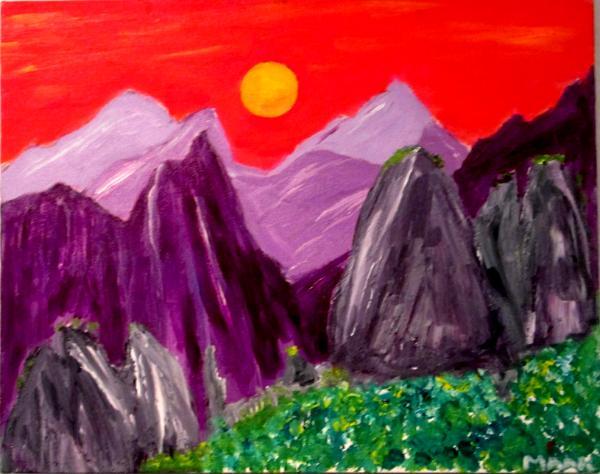 China Mountains at Sunset 2