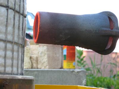 A closer look at the burner tip