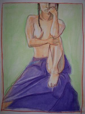 Leah, Purple Sarong