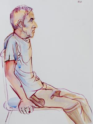 Bob, Seated Profile