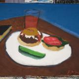 Bacon Blues Burger (for a)