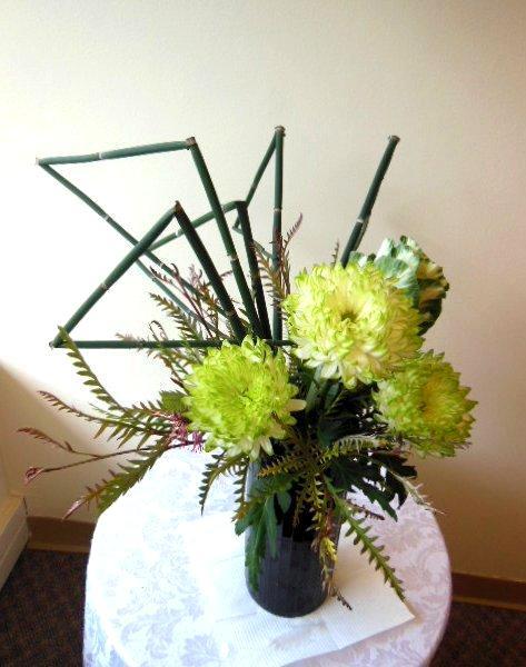 Architectural Flower Arrangement