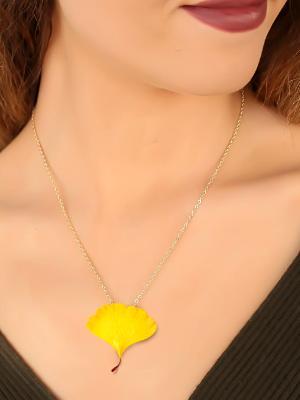Ginkgo Leaf Necklace Pendant