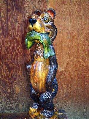 "Bear with Trout  $295.00 9""X33"""