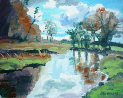 Autumn on the river Otter, Ottery St Mary