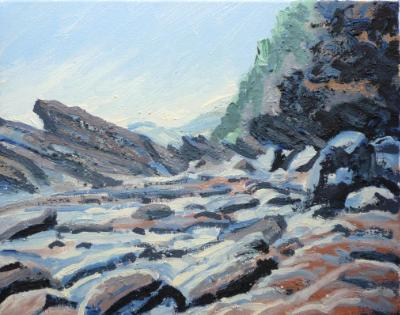 Woody Bay in earth pigments 1