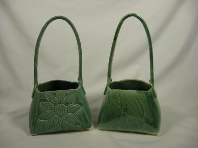100825.BC Porcelain Baskets
