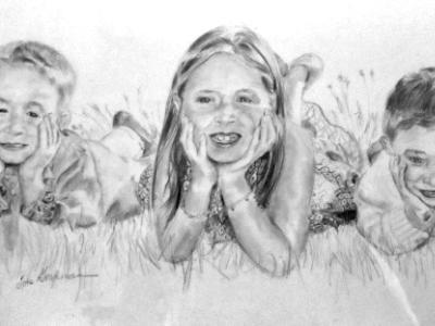 Trio In Grass