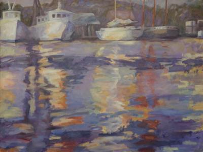 """Boat Shadows 36"""" x 48"""""""