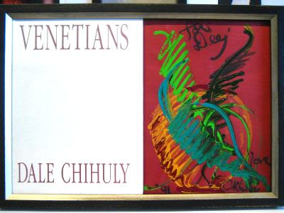 Dale Chihuly painted + signed book