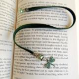 dragonfly vintage velvet bookmark steampunk