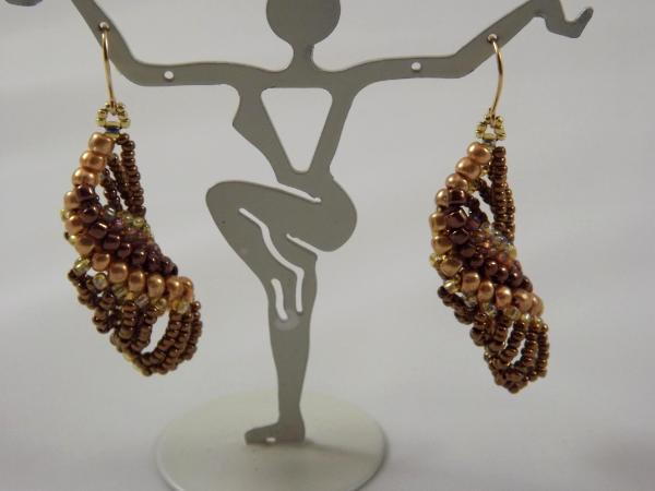E-26 Bronze Beaded Earrings