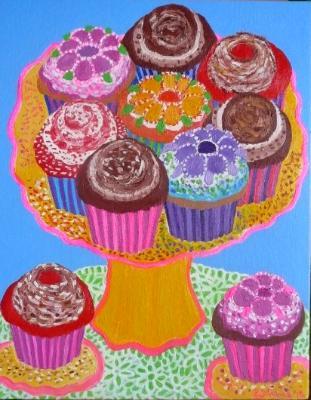 Happy Cupcake Platter