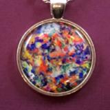 """Archetypes"" Art Print Pendant Gemstone Necklace"