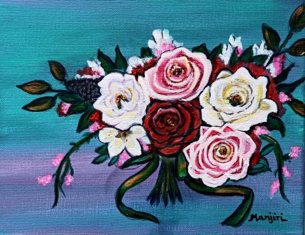 Roses bouquet Floral fantasy