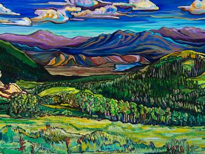 Stopping for the View 24x48 original acrylic on galler wrap canvas $1900.00