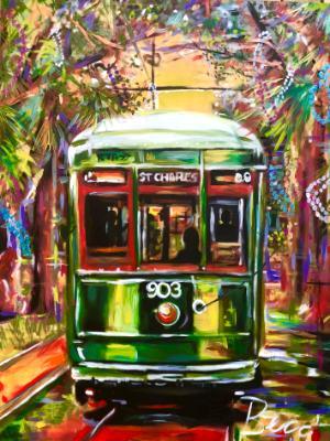 Street car after Mardi gras