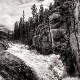 Poudre Falls Black & White
