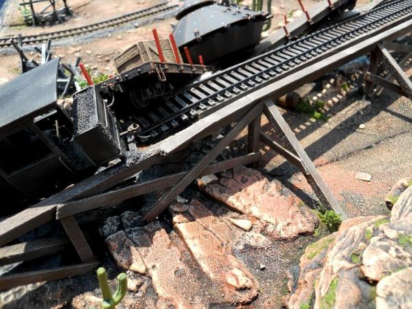 Wrecked bridge