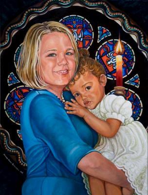 """""""Baptism Day""""Double Portrait Commission"""