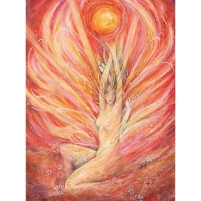 Dawn Goddess painting art print goddess of the morning sun