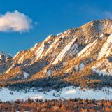 The Flatirons with Fresh Snow