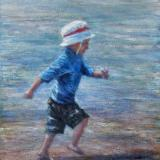 Running on the Beach - SOLD