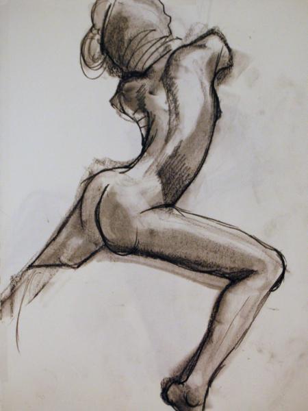 Titania Seated Nude (Rear View)