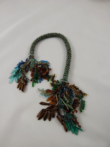 T-7 Turquoise Picasso Crocheted Tassel Rope