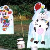 Cow and clown cut outs