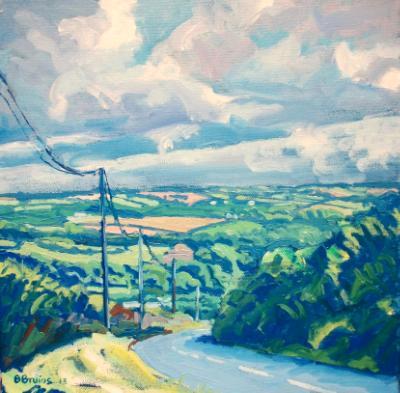 Devon view near Frithelstock, North Devon
