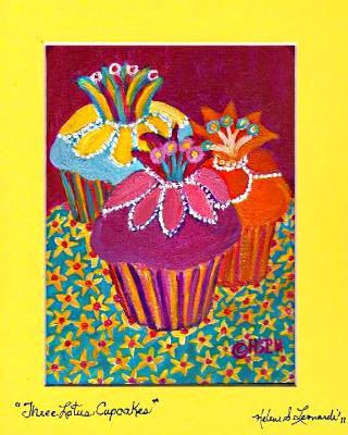 Three Lotus Cupcakes