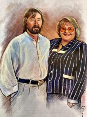 Portrait of my Dad and his wife Starr