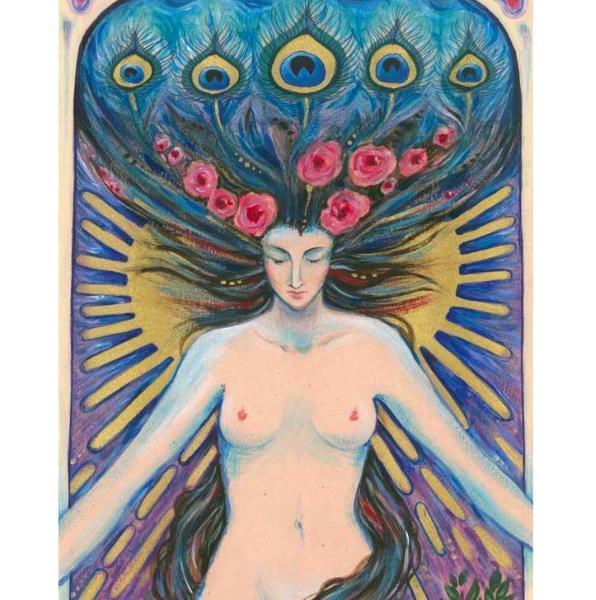 Goddess original mixed media painting