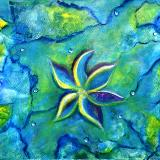 The Fallen One- Story Of A Flower Colorful Abstract Painting on sale