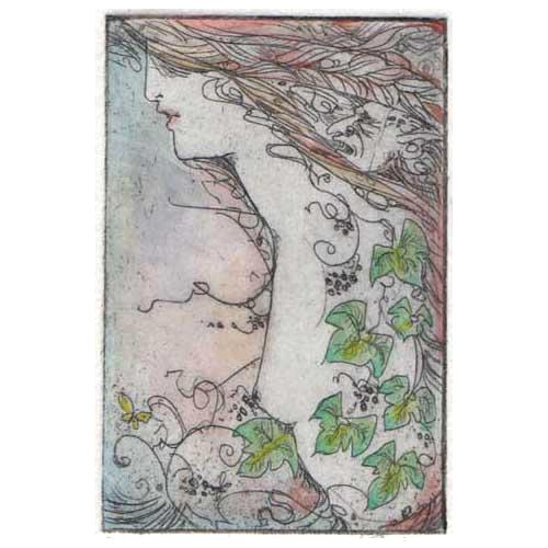 Ivy Fairy Limited Edition Etching and Aquatint fantasy gothic etching