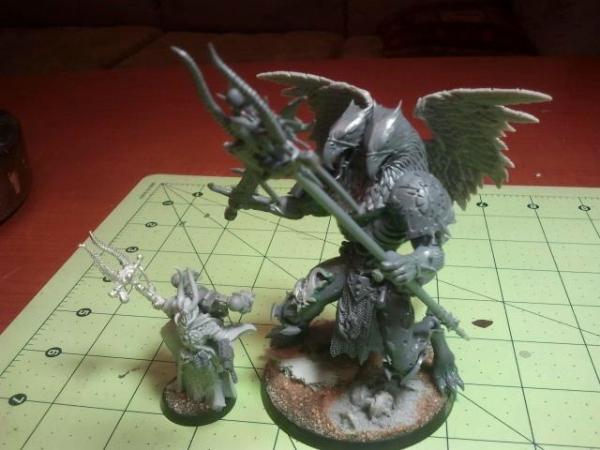 Tzeentch Daemon Prince & custom Ahriman