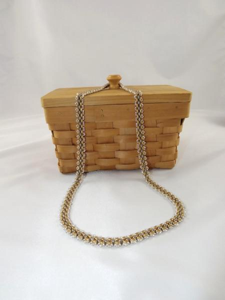 N-66 Gold & Silver Woven Necklace